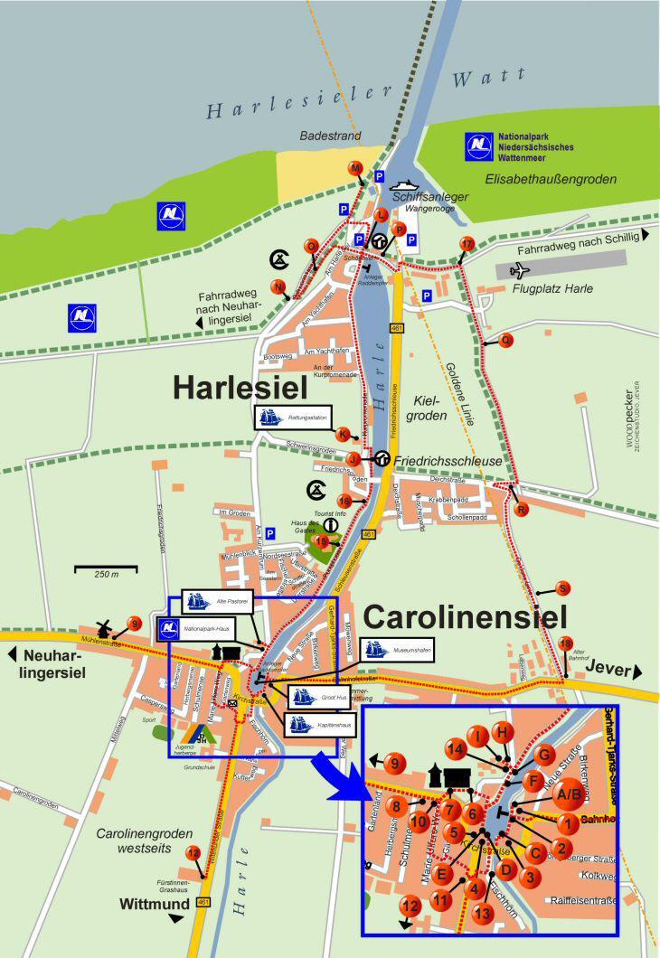 carolinensiel karte Museumsweg Carolinensiel